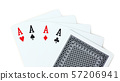 Four aces poker playing cards with back design 57206941