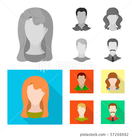 Vector design of professional and photo sign. Set of professional and profile stock symbol for web. 57208082