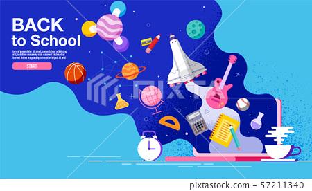 back to school ,inspiration, poster, flat design 57211340