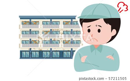 老公寓和工作服的工作者 57211505