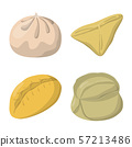 Isolated object of dumplings and food logo. Set of dumplings and stuffed stock symbol for web. 57213486