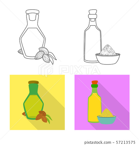 Isolated object of healthy and vegetable icon. Set of healthy and agriculture stock symbol for web. 57213575