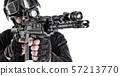 Counter terrorism team fighter close up portrait 57213770