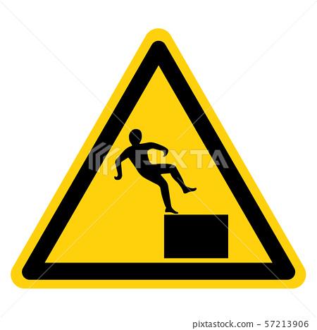 Beware High Level Drop Symbol Sign,Vector 57213906