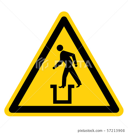 Beware Bottomless Pit Symbol Sign,Vector 57213908