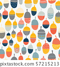 Kids autumn Acorn vector illustration seamless pattern. Repeating autumn background. Kids fall 57215213