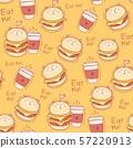 Seamless pattern burger background. Vector Illustration. 57220913
