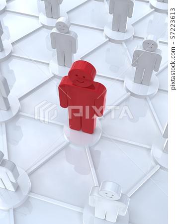CG 3D 일러스트 입체 디자인 아이콘 네트워크 영향력 57223613
