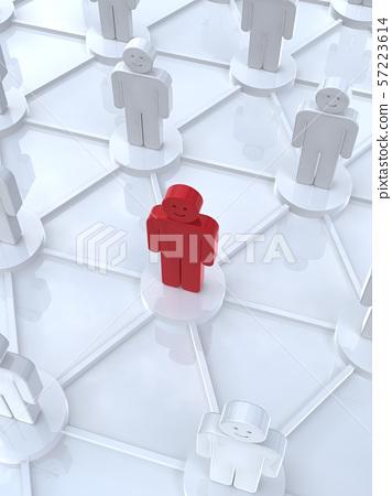 CG 3D 일러스트 입체 디자인 아이콘 네트워크 영향력 57223614