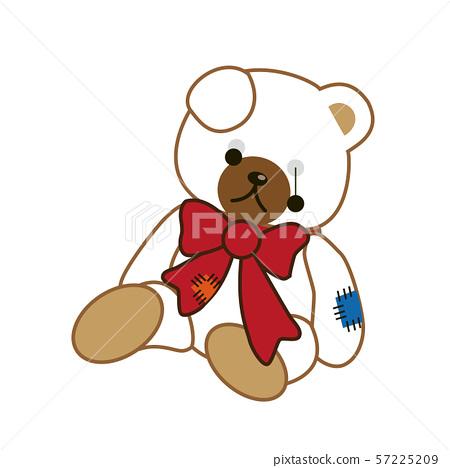 Broken bear plush 57225209