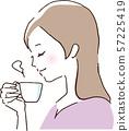 女性,咖啡,茶 57225419