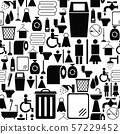 toilet seamless pattern background icon. 57229452