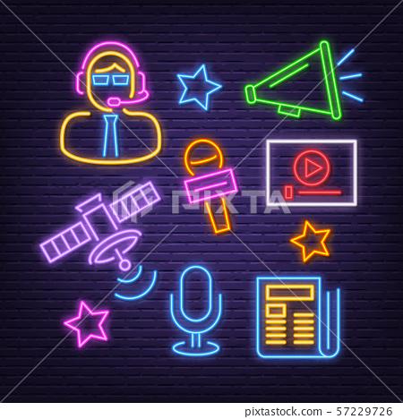 news neon icons 57229726
