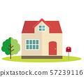 주택 작가 일러스트 하우스 마이 홈 나무 포스트 57239116