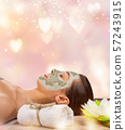 Young healthy woman with face mask. 57243915