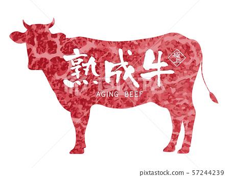 老年牛肉標籤 57244239