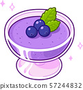 Blueberry mousse drawing 57244832