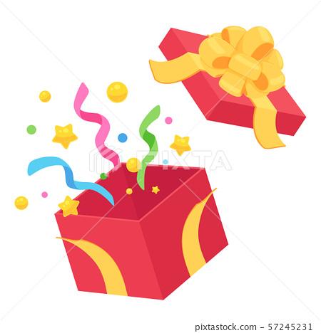 打开礼品盒_Red_Yellow_Flower色带 57245231