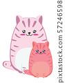 Fat pink cat design 57246598