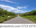 Hateruma村莊農村風景有山羊的 57251079