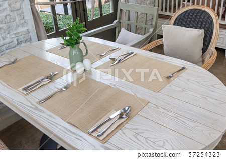 Setting the table for dining room 57254323