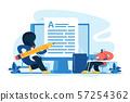 Copywriting concept vector illustration 57254362