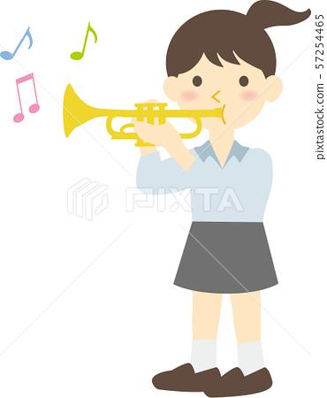 트럼펫을 부는 여자 57254465