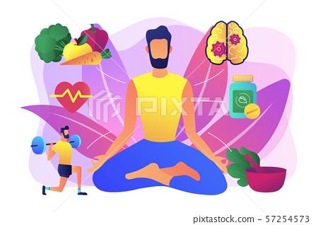 Holistic medicine concept vector illustration 57254573
