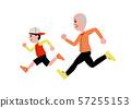 跑着爷爷和男孩 57255153