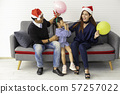 Happy family on holiday and Christmas 57257022