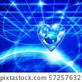 하트 푸른 하늘에 떠있는 지구 57257632