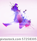 Dancer silhouette 57258305