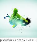 Dancer silhouette 57258313