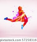Dancer silhouette 57258316