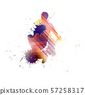Dancer silhouette 57258317