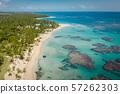 Samana peninsula beach aerial view 57262303