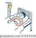 男子在床上滴水 57263338