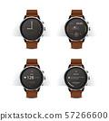 Smart Watch with Digital Display Set Vector Illustration 57266600