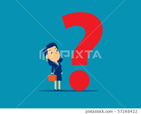 Businesswoman with Question mark. Concept business 57268422
