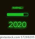 Neon progress bar 2020 year 57269205