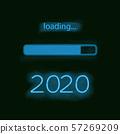 Neon progress bar 2020 year 57269209