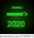 Neon progress bar 2020 year 57269213