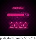 Neon progress bar 2020 year 57269216