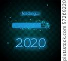 Neon progress bar 2020 year 57269220