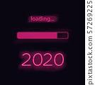 Neon progress bar 2020 year 57269225