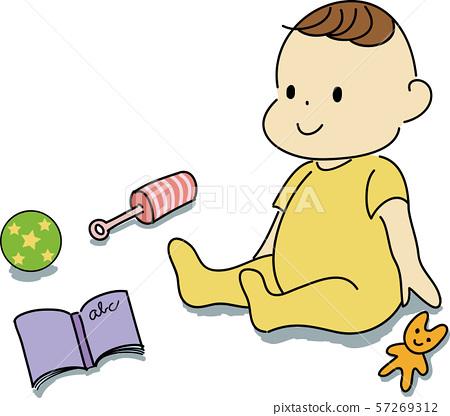嬰兒和玩具 57269312