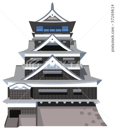 Kumamoto Castle image Sightseeing area illustration icon 57269614