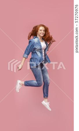 Attractive Redhead Teen Girl Having Fun Stock Photo 57270976 Pixta