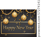 happy new year 2020 gold and black 57274141