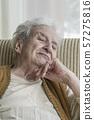 sad senior woman 57275816